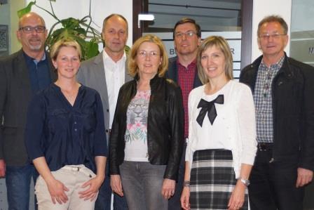 Der neu gewählte Vorstand von links nach rechts: Bgm. Bernhard Schneider, GR Petra Gietl, Bgm. Anton Brunner, GR Johanna Gasser, Bgm. Johann Waldauf, GR Leopold Kollreider